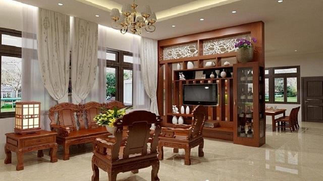 Bàn ghế gỗ bền đẹp góp phần tạo nên không gian sang trọng, tinh tế cho ngôi nhà