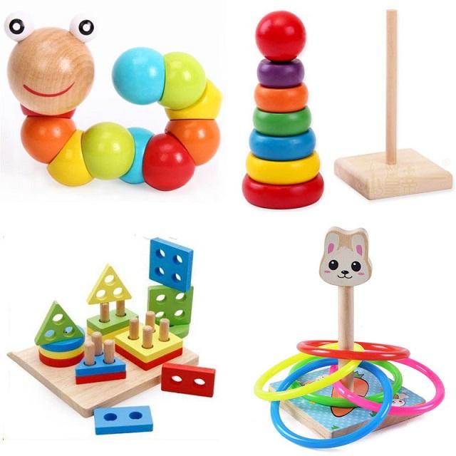 Đồ chơi bằng gỗ được làm từ chất liệu an toàn cho trẻ