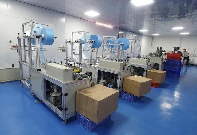 Máy sản xuất khẩu trang là thiết bị điện cơ được sử dụng để sản xuất ra số lượng lớn khẩu trang y tế