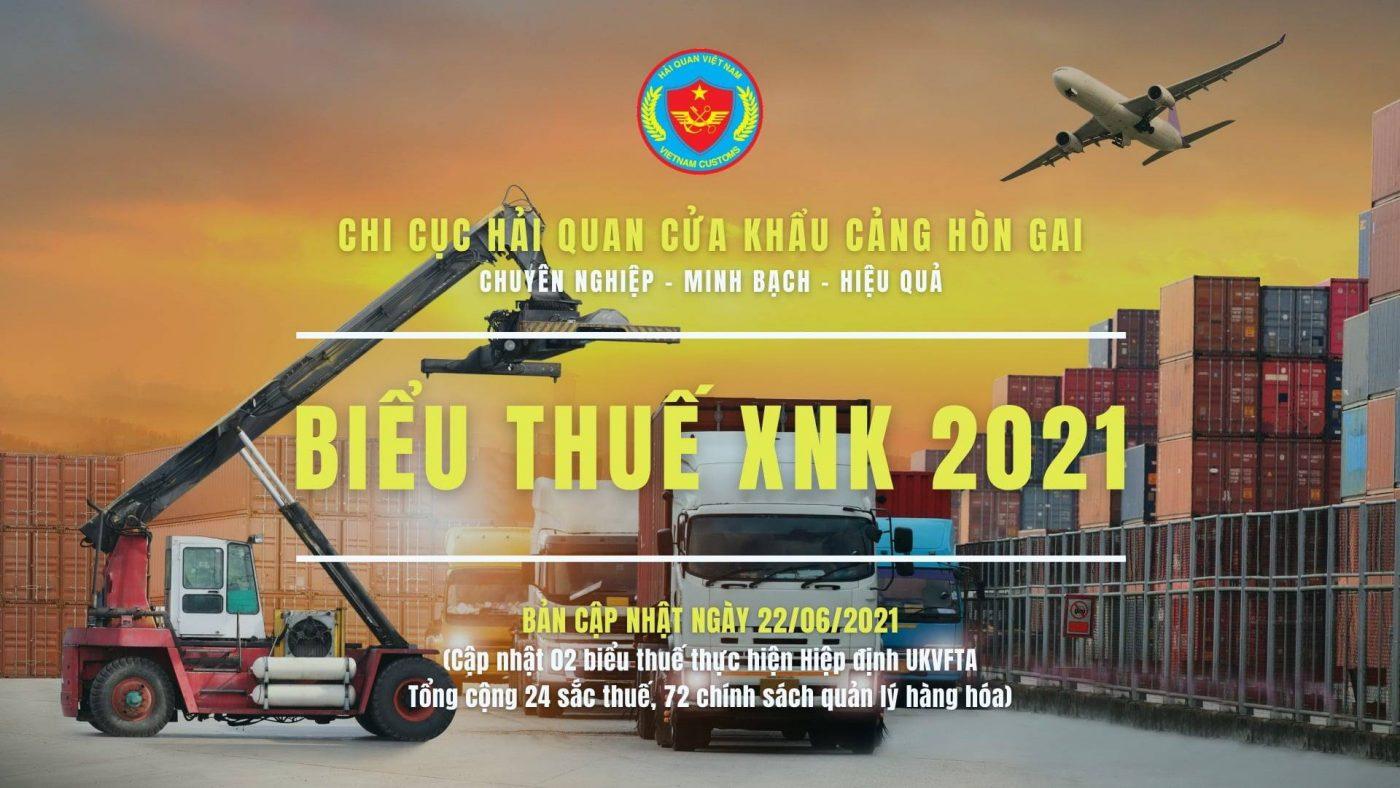 Biểu thuế xuất nhập khẩu 2021